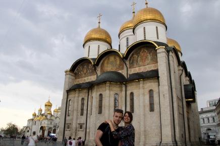 Im Kreml vor der Mariä-Entschlafens-Kathedrale
