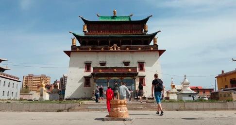 Die Hauptattraktion des Klosters Gandan Khiid in UB