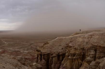 """Sandsturm an der """"White Stupa"""""""