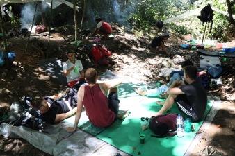 Das Camp unserer Gruppe - wir haben Verstärkung von zwei weiteren Backpackern