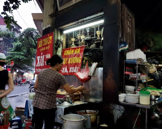 Street Food Stand in Hanoi