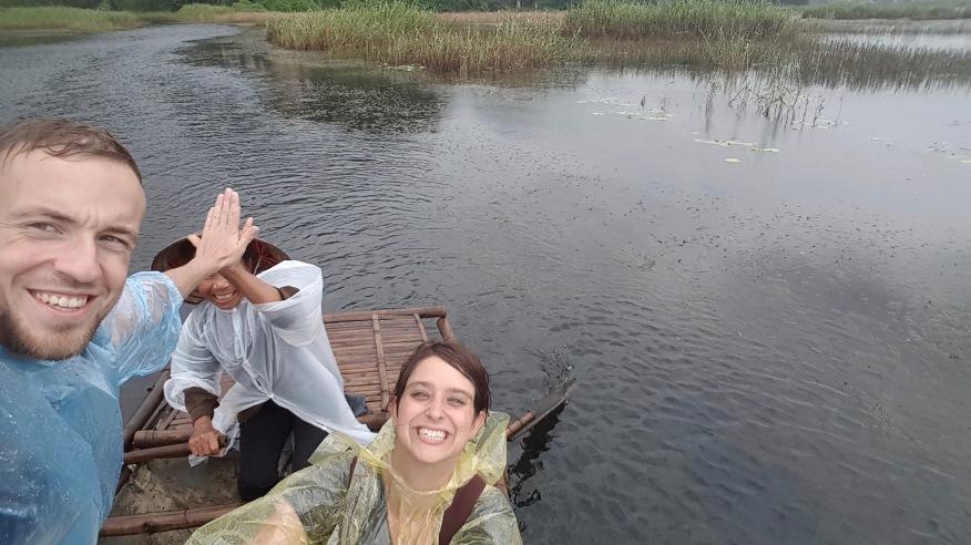 Nass und glücklich im Van Long Natur Reservat