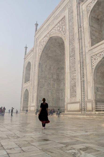 Ohne Worte am Taj Mahal