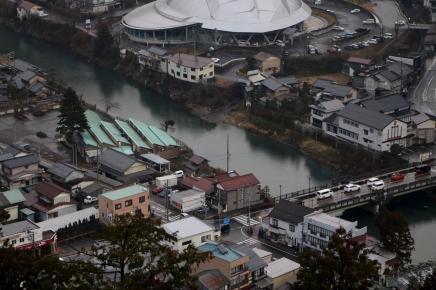 Ausblick vom Gujo Hachiman Castle