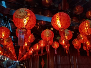 Chinatown leuchtet rot