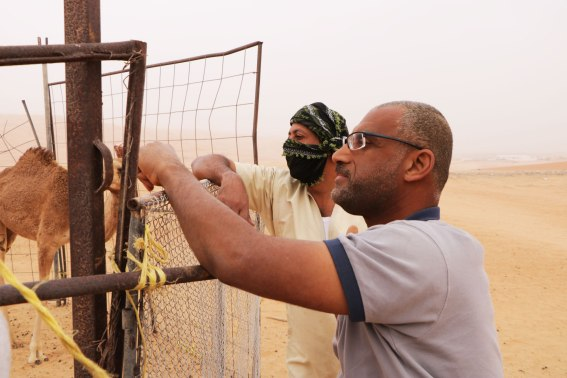 Mit Saheed und Waleed arbeiten vier Wochen zusammen.
